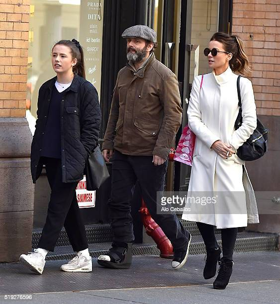 a989242a1b01ec Kate Beckinsale Lily Mo Sheen and Michael Sheen are seen in Soho on April 5  2016