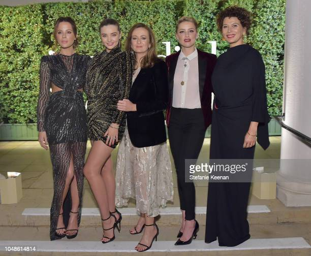 Kate Beckinsale Miranda Kerr PORTER EditorinChief Lucy Yeomans Amber Heard and Chairman Universal Pictures Donna Langley attend the PORTER Incredible...
