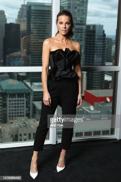 Kate Beckinsale of Farming attends The IMDb Studio presented By Land Rover At The 2018 Toronto International Film Festival at Bisha Hotel Residences...