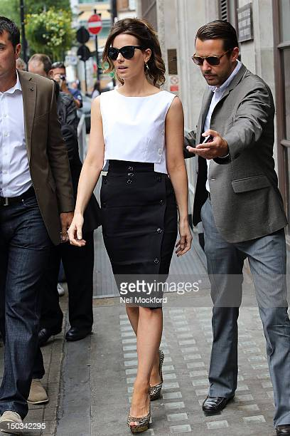 Kate Beckinsale seen at BBC Radio One on August 16 2012 in London England
