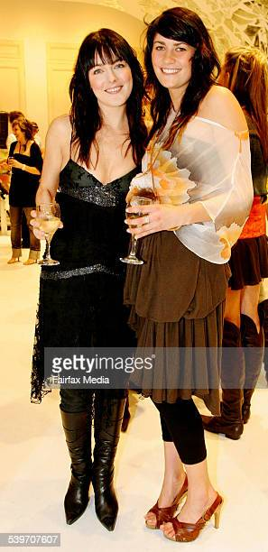 Kate Bell and Natalie Edel at the Sass Bide store launch on Oxford Street in Sydney 29 July 2005 SHD Picture by TRACEY NEARMY