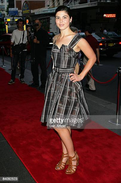 Kate Bell arrives for the opening night of 'High School Musical Live on Stage' at the Capitol Theatre on December 18 2008 in Sydney Australia
