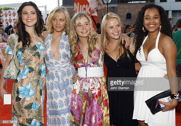 Kate Bell Taryn Marler Sophie Luck Gabrielle Scollay and Lesley Anne Mitchell of 'Blue Water High'