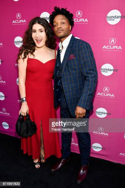 Kate Berlant and Jermaine Fowler attend the Sundance Institute at Sundown Summer Benefit at the Ace Hotel on June 14, 2018 in Los Angeles, California.