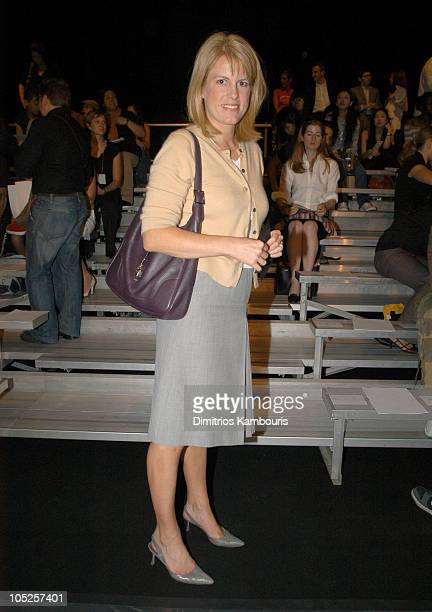 Kate Betts during MercedesBenz Fashion Week Spring 2004 Marc By Marc Jacobs Front Row at New York State Armory Lexinton Avenue in New York City New...