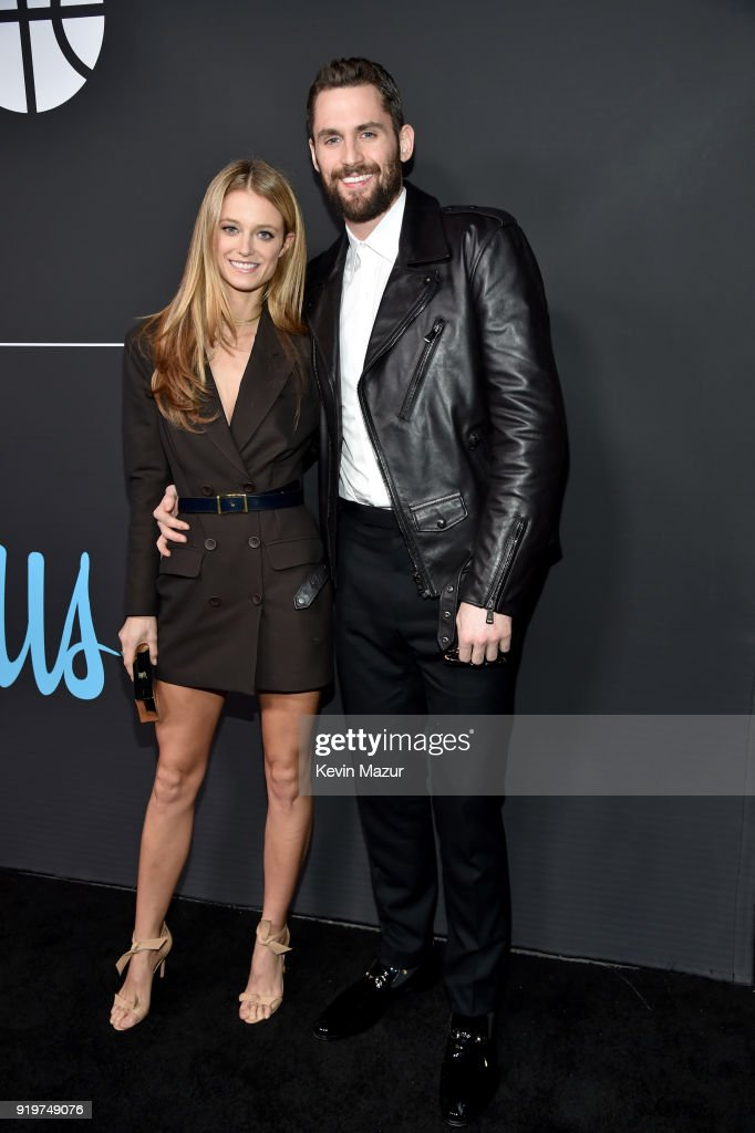 Kate Bock (L) and Kevin Love attend GQ's 2018 All-Stars Celebration at Nomad Hotel Los Angeles on February 17, 2018 in Los Angeles, California.