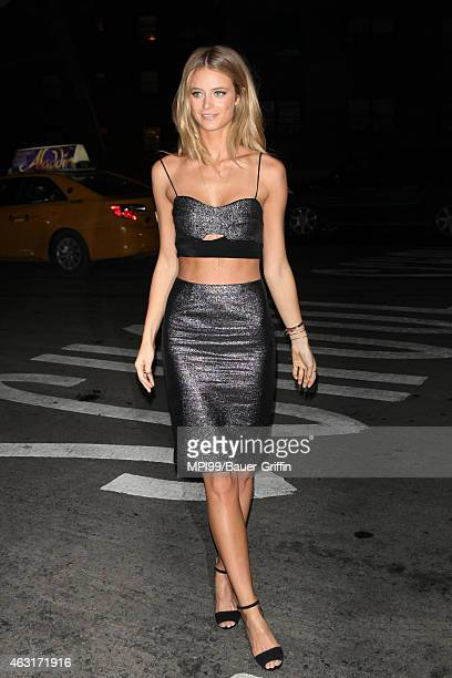 Kate Bock arrives at the 2015 Sports Illustrated Swimsuit Celebration at Marquee on February 10 2015 in New York City