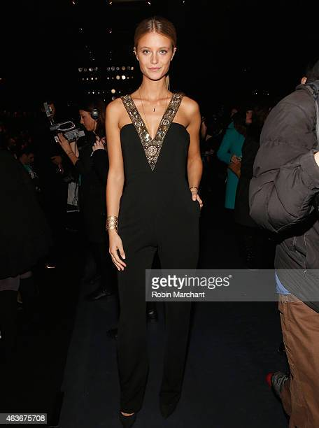 Kate Bock attends Badgley Mischka Fashion Show at The Theatre at Lincoln Center on February 17 2015 in New York City