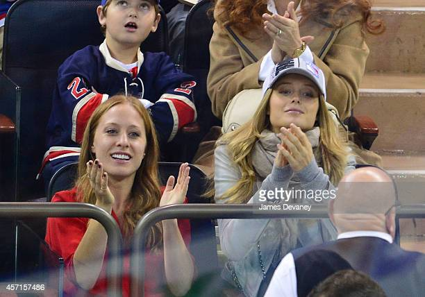 Kate Bock attends New York Rangers vs Toronto Maple Leafs game at Madison Square Garden on October 12 2014 in New York City