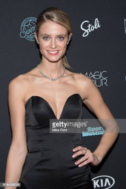 Kate Bock attends the 2018 Sports Illustrated Swimsuit Issue Launch Celebration at Magic Hour at Moxy Times Square on February 14 2018 in New York...