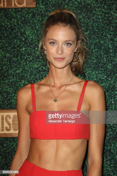 Kate Bock attends the 2018 Sports Illustrated Swimsuit show at PARAISO during Miami Swim Week at The W Hotel South Beach on July 15 2018 in Miami...