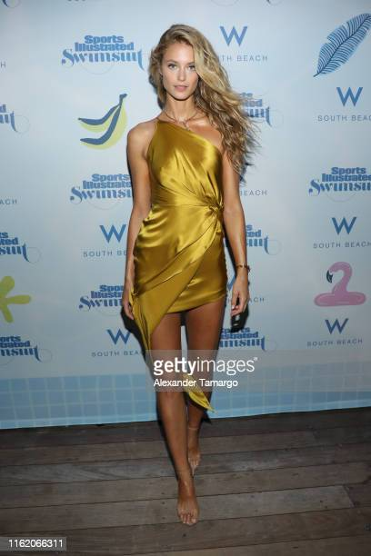 Kate Bock attends the 2019 Sports Illustrated Swimsuit Runway Show During Miami Swim Week At W South Beach Front Row/Backstage at WET poolside lounge...