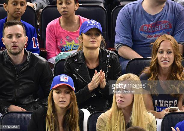 Kate Bock attends the Washington Capitals vs New York Rangers playoff game at Madison Square Garden on May 2 2015 in New York City