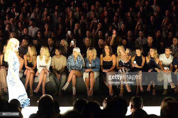 Kate Bock Hailey Clauson guest Kylie Jenner Jordyn Woods Ashley Graham Devon Windsor Jamie Chung Olivia Palermo and Johannes Huebl attend the...
