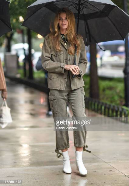 Kate Bock is seen outside the Rag & Bone show during New York Fashion Week S/S20 on September 06, 2019 in New York City.