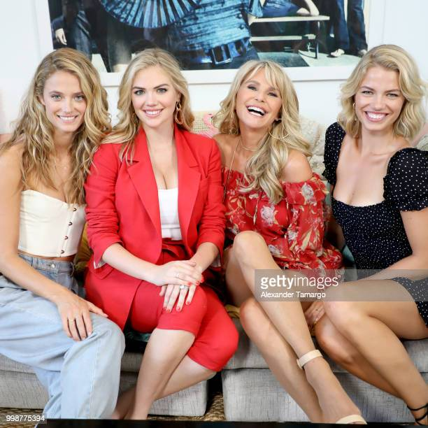 Kate Bock Kate Upton Christie Brinkley and Hailey Clauson attend the 2018 Sports Illustrated Swimsuit Casting Call at PARAISO during Miami Swim Week...