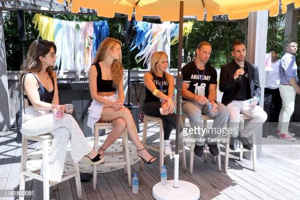 Kate Bock speaks with guests during Sports Illustrated's 2019 Model Search Open Casting Call During Miami Swim Week At W South Beach Day 2 at W Hotel...