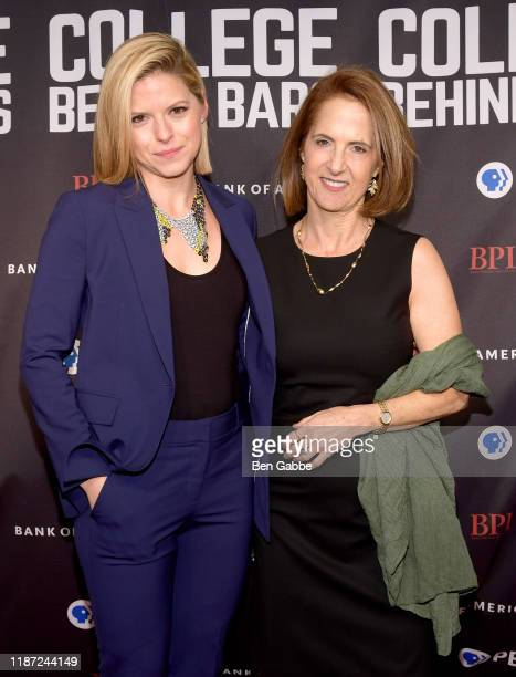 Kate Bolduan and Lynn Novick attend the special screening of COLLEGE BEHIND BARS at The Apollo Theater on November 12 2019 in New York City