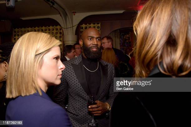 Kate Bolduan and Malcolm Jenkins attends the special screening of COLLEGE BEHIND BARS after party at Red Rooster on November 12 2019 in New York City