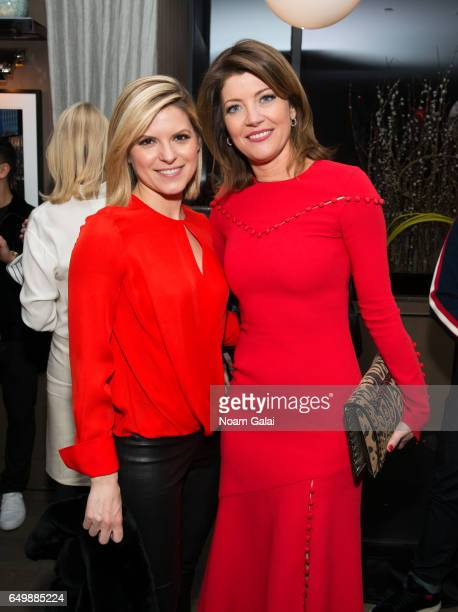 Kate Bolduan and Norah O'Donnell attend the Two Turns From Zero book launch event at The Regency Bar and Grill on March 8 2017 in New York City