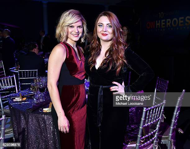 Kate Bolduan and Samantha Barry attend the CNN Heroes Gala 2016 at the American Museum of Natural History on December 11 2016 in New York City...