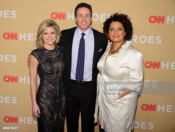 Kate Bolduan Chris Cuomo and Michaela Pereira attend 2013 CNN Heroes An All Star Tribute at The American Museum of Natural History on November 19...