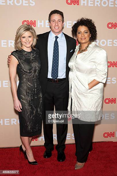 Kate Bolduan Chris Cuomo and Michaela Pereira attend the 2013 CNN Heroes at the American Museum of Natural History on November 19 2013 in New York...