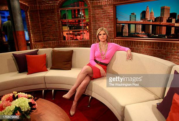 Kate Bolduan cohost of CNN's new morning show New Day poses for a portrait on its set inside the Time Warner Center in Manhattan NY on June 13 2013...