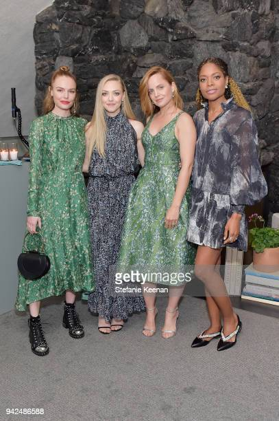 Kate Bosworth Amanda Seyfried Mena Suvari and Naomie Harris attend the HM celebration of 2018 Conscious Exclusive collection at John Lautner's Harvey...