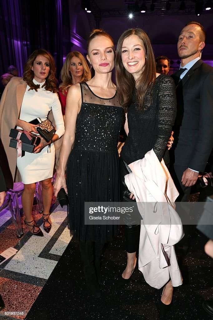 Kate Bosworth and Alexandra Maria Lara during the Marc Cain fashion show fall/winter 2017 VIP Cocktail 'Ballet magnifique' at 'Telekom Representation' on January 17, 2017 in Berlin, Germany.