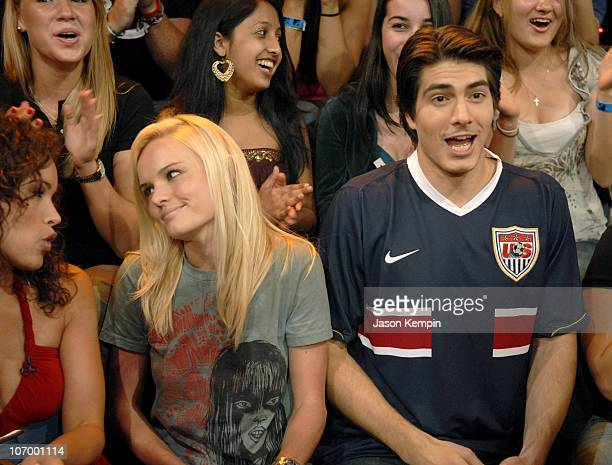 Kate Bosworth and Brandon Routh during Kate Bosworth Brandon Routh and Rosario Dawson Visit MTV's TRL June 28 2006 at MTV Studios in New York City...