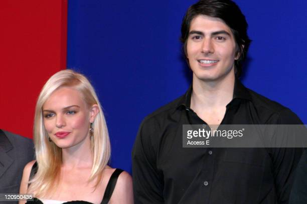 Kate Bosworth and Brandon Routh during 'Superman Returns' Tokyo Press Conference at Grand Hyatt Tokyo in Tokyo Japan