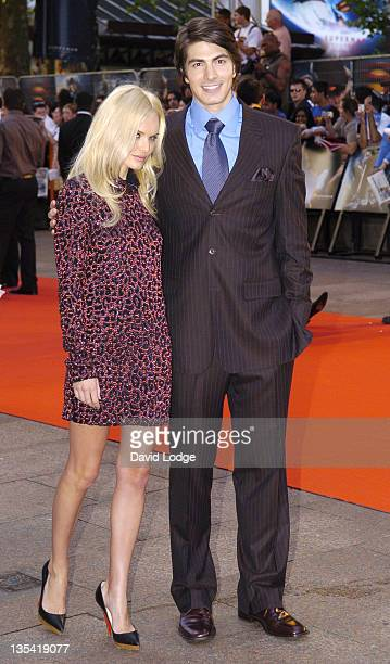 Kate Bosworth and Brandon Routh during Superman Returns UK Premiere Outside Arrivals at Odeon Leicester Square in London Great Britain