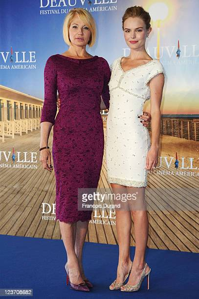 Kate Bosworth and Ellen Barkin pose during the 'Another Happy Day' Photocall during the 37th Deauville Film Festival on September 4 2011 in Deauville...