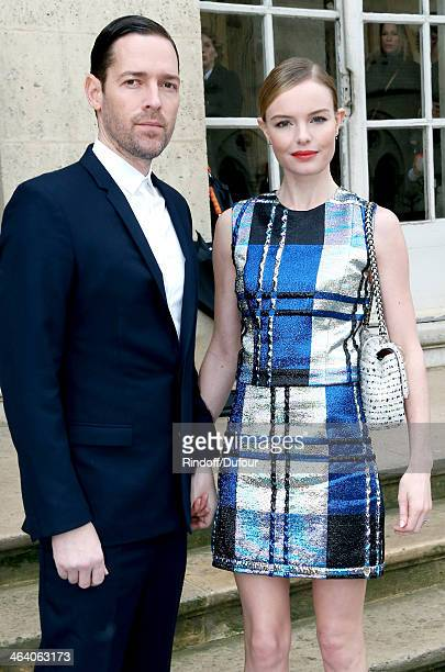 Kate Bosworth and her director husband Michael Polish attend the Christian Dior show as part of Paris Fashion Week Haute Couture Spring/Summer 2014...