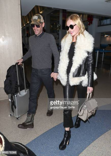 Kate Bosworth and husband Michael Polish are seen on December 08 2017 in Los Angeles California