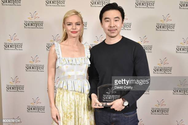 Kate Bosworth and Johnson Cheng attend the 2017 Palm Springs International Festival of Short Films Awards Ceremony on June 25 2017 in Palm Springs...