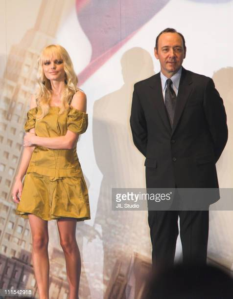 Kate Bosworth and Kevin Spacey during Superman Returns Tokyo Premiere Stage Greeting at Roppongi Hills Arena in Tokyo Japan