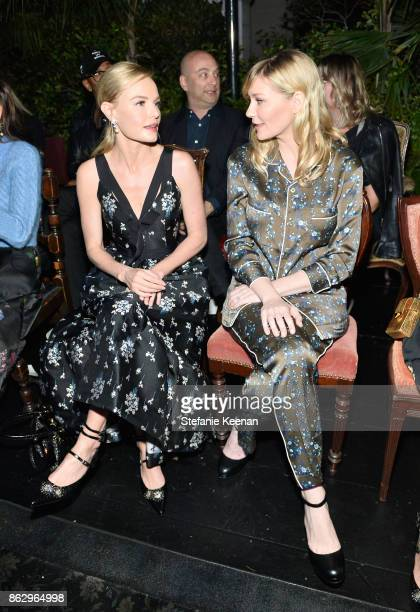 Kate Bosworth and Kirsten Dunst at HM x ERDEM Runway Show Party at The Ebell Club of Los Angeles on October 18 2017 in Los Angeles California