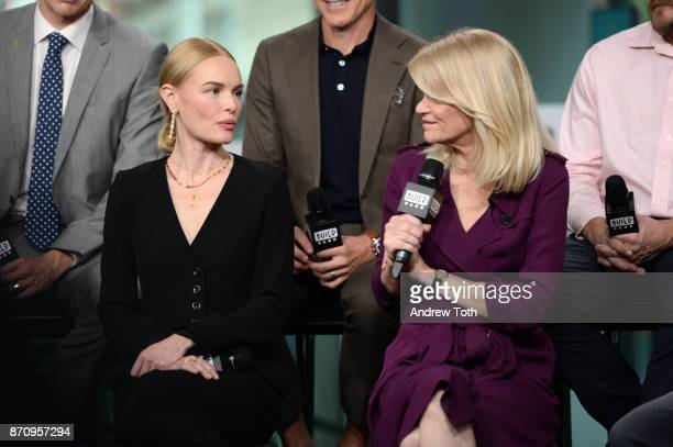 Kate Bosworth and Martha Raddatz attend Build presents the cast of 'The Long Road Home' at Build Studio on November 6 2017 in New York City