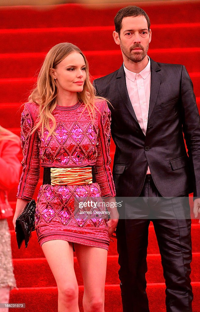 Kate Bosworth and Michael Polich depart the Costume Institute Gala for the 'PUNK: Chaos to Couture' exhibition at the Metropolitan Museum of Art on May 6, 2013 in New York City.
