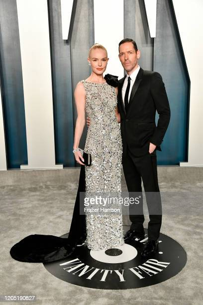 Kate Bosworth and Michael Polish attend the 2020 Vanity Fair Oscar Party hosted by Radhika Jones at Wallis Annenberg Center for the Performing Arts...