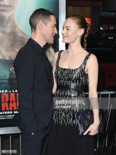 Kate Bosworth and Michael Polish attend the Los Angeles Premiere 'Tomb Raider' at TCL Chinese Theatre IMAX on March 12 2018 in Hollywood California