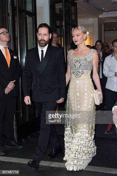 Kate Bosworth and Michael Polish seen leaving there hotel on May 2 2016 in New York City