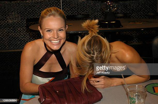Kate Bosworth and Sanoe Lake during 2003 MTV Movie Awards - Backstage and Audience at The Shrine Auditorium in Los Angeles, California, United States.