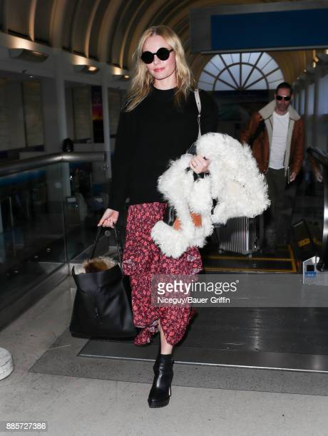 Kate Bosworth are seen at LAX on December 04 2017 in Los Angeles California