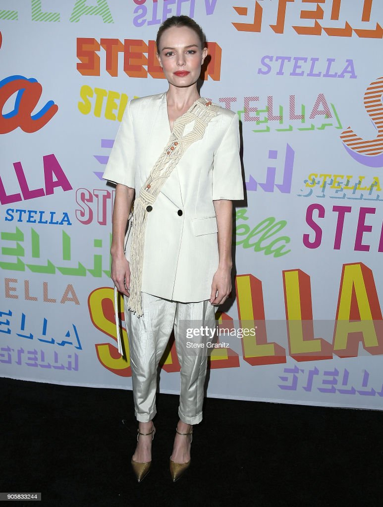 Kate Bosworth arrives at the Stella McCartney's Autumn 2018 Collection Launch on January 16, 2018 in Los Angeles, California.
