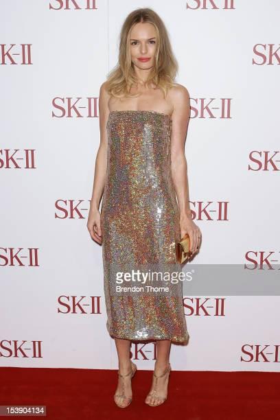 Kate Bosworth arrives for a SKII skincare line red carpet event at David Jones on October 11 2012 in Sydney Australia
