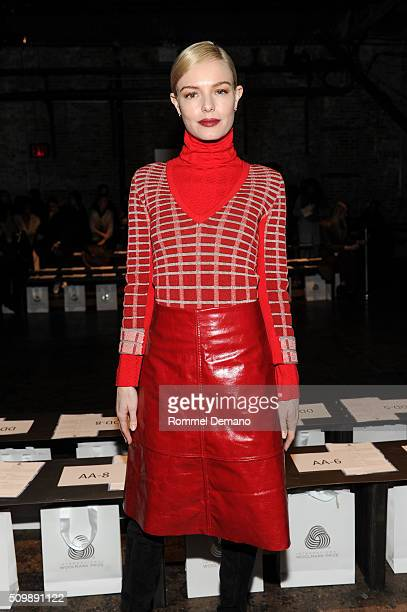 Kate Bosworth attends International Woolmark Prize Womenswear Final at Cedar Lake on February 12, 2016 in New York City.