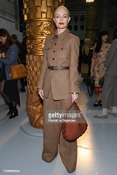 Kate Bosworth attends the Chloe show as part of the Paris Fashion Week Womenswear Fall/Winter 2020/2021 on February 27, 2020 in Paris, France.